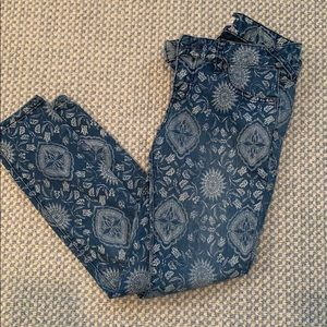 Free People Patterned Jeans